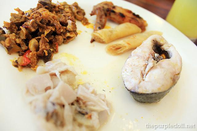 My plate of bangus, ginataang langka, bopis, lumpiang shanghai and fried wings
