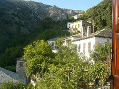 back view from hotel near portaria pelion