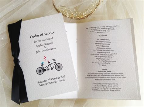 Order of Service Books for Weddings, Wedding Order of
