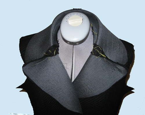 Coat lapel with roll line