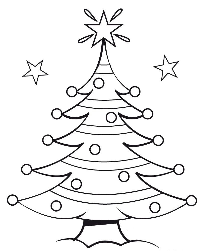 Free Christmas Tree Outlines, Download Free Clip Art, Free ...