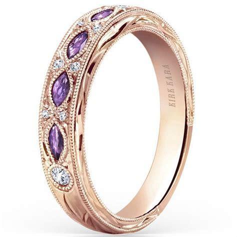 """Kirk Kara """"Dahlia"""" Marquise Cut Purple Amethyst Diamond"""