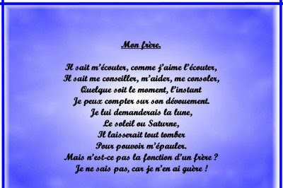 Poeme Frere Et Soeur