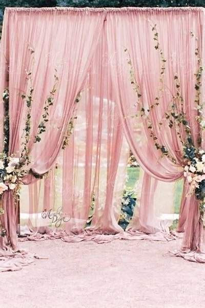 Blush Pink Sheer Wedding Drape   Arcadia Designs.com