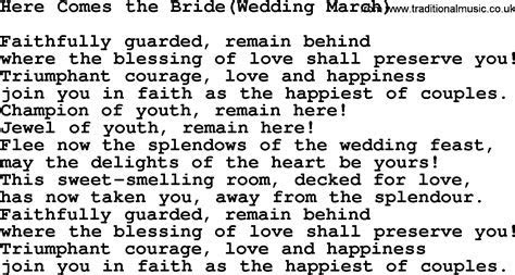 Wedding Hymns and songs: Here Comes The Bride Wedding