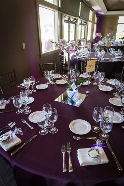 Plum Tablecloth Linens and Dinnerware   Wedding Ideas