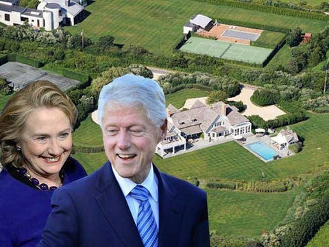 bill and hillary sagaponack rental home hamptons 2013
