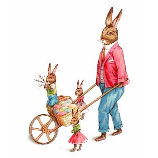 Vintage Easter Rabbit and Family shirt