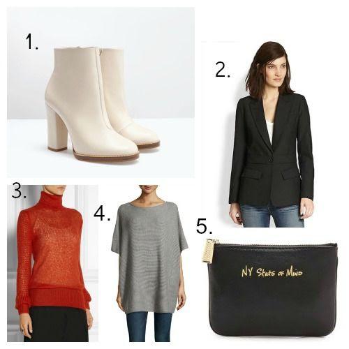 Zara boots - Smythe blazer - Stella McCartney sweater - Vince cashmere poncho - Rebecca Minkoff pouch
