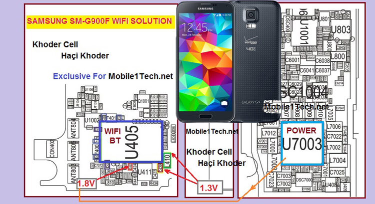 Samsung Galaxy S5 G900F Bluetooth IC Not working problem solution