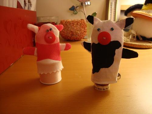 pig meets cow