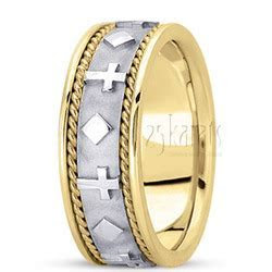 Exclusive Religious Wedding Band   HC100252   14K Gold