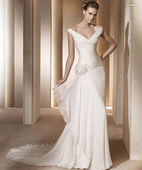 Can you suggest a dress for a tall, thin, flat chested woman?