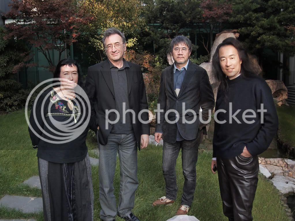 Pascale Petit, self, Xiao Kaiyu and Yang Lian in China