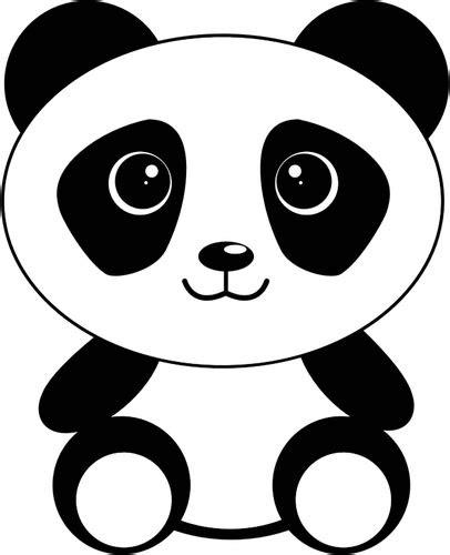 kartun gambar panda domain publik vektor