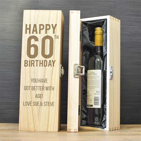Happy 60th Birthday Personalised Wine Box