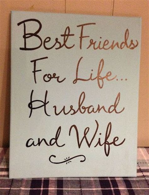Best friends for life, husband and wife, wedding gift
