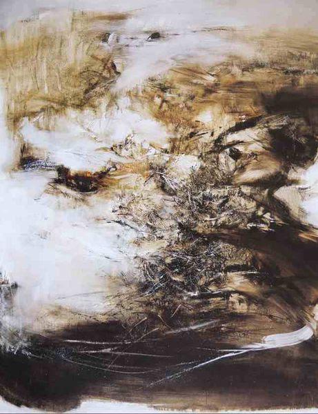 Zao Wou Ki 1920 2013 Peinture Et Encre De Chine Ladilettantelle