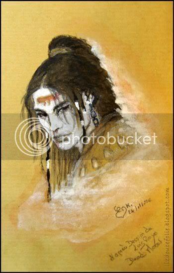 d apres dead moon Epilogue Luis Royo Mars portrait rapide quick drawing fast painting