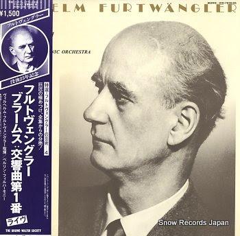 FURTWANGLER, WILHELM brahms; symphony no.1 in c minor, op.68