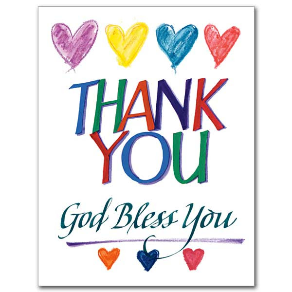 Religious Thank You Cards The Gift Of Saying Thanks The Printery