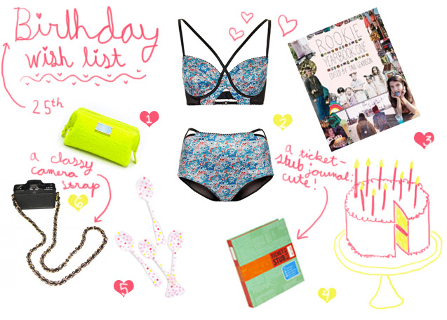 25th Birthday wish list