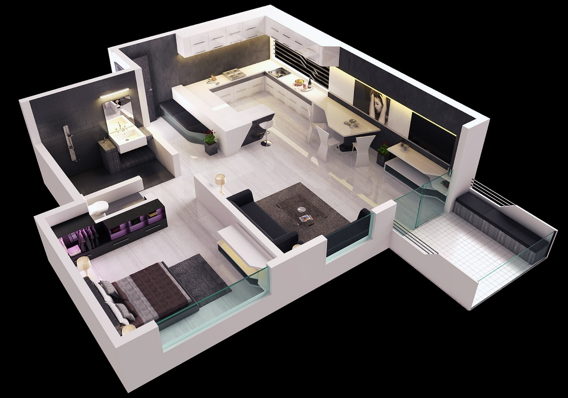 modern 1 bedroom house