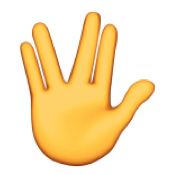 Spock Live Long and Prosper Vulcan Salute Emoji