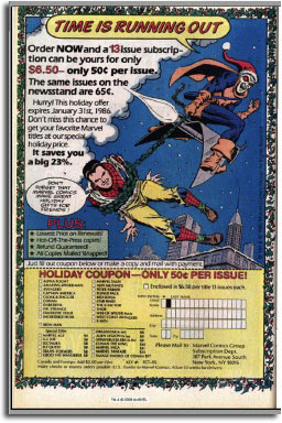 Marvel House Ad