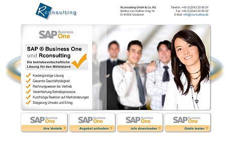 Launch der SAP Business One Landing Page für rconsulting aus Gladbeck