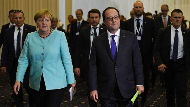Angela Merkel y Francois Hollande