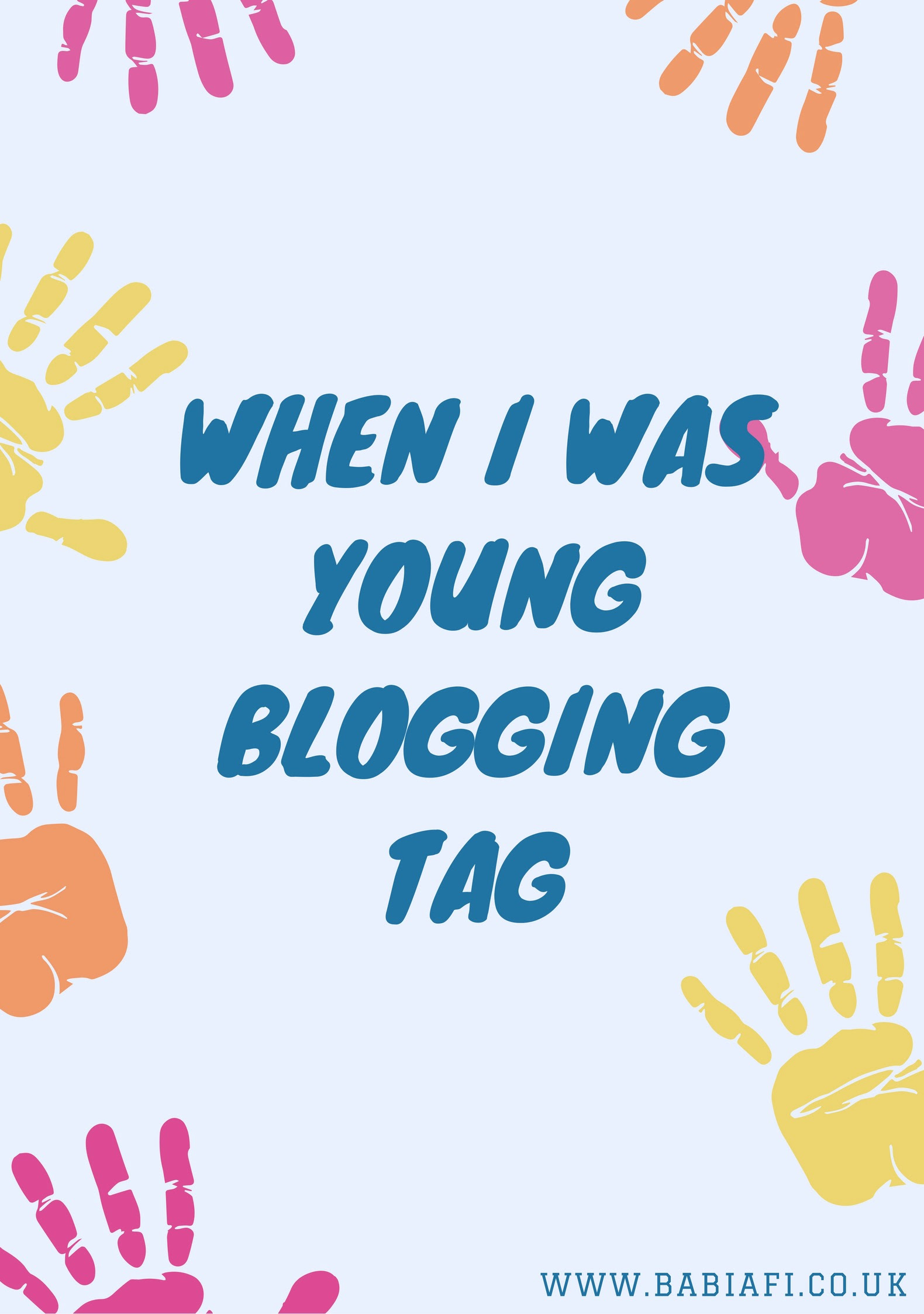 When I Was Young Blogging Tag