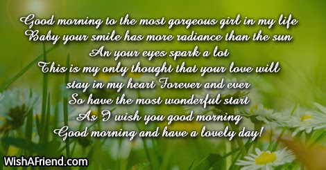 Good Morning Poem For Her To My Sweet Angel