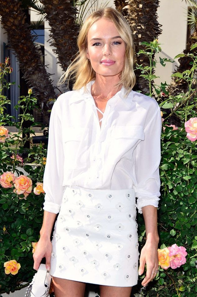 Le Fashion Blog Kate Bosworth Equipment Knox Lace Up Top White Embellished Skirt Garden Party Beauty Summer Style Via Zimbio