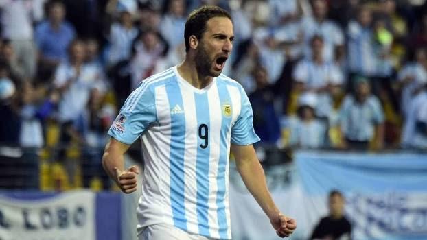 Higuaín marcou o gol da vitória da Argentina sobre a Jamaica