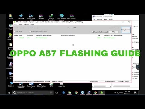 Oppo A57 CPH1701 Flashing by Msm Download Tool - MTK CELL