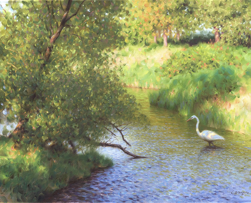 Image result for river heron paintings