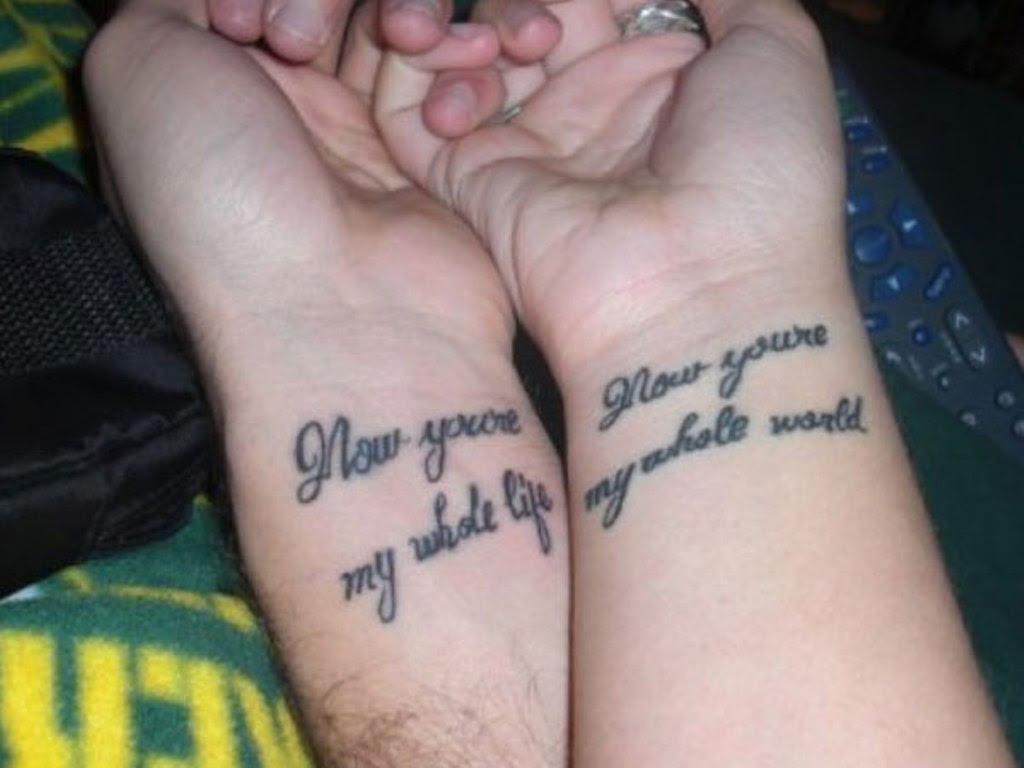 Lettering Tattoo Wrist