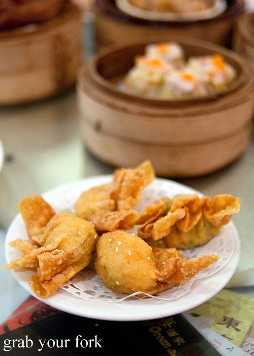 deep fried prawn dumplings yum cha dim sum east ocean chinatown haymarket