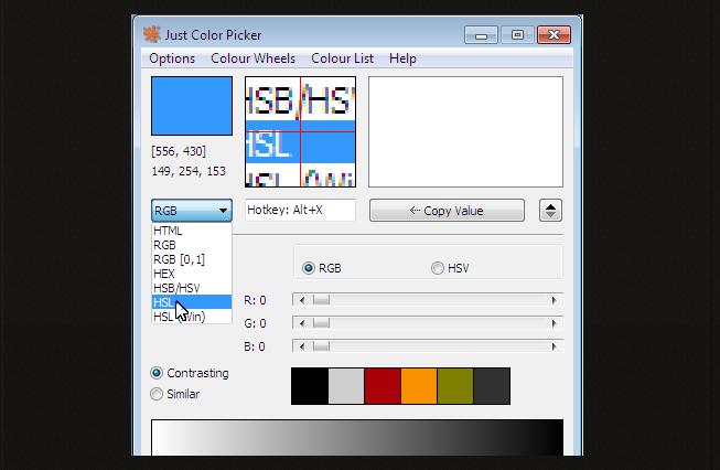 Mencari Kode Warna HTML,RGB,HEX,HSB/HSV dan HSL Dengan Jcpicker