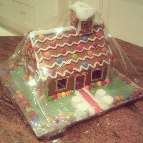 Gingerbread house. It's beginning to look a lot like Christmas.