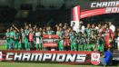 Indosport - PSMS Medan meraih gelar runner-up Liga 2 2017.