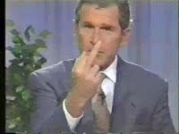 Bush gives you the finger