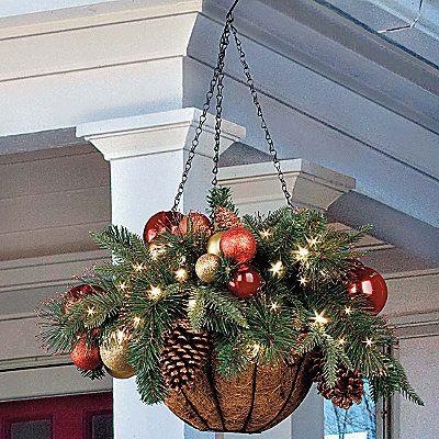Christmas Ornament Hanging basket.