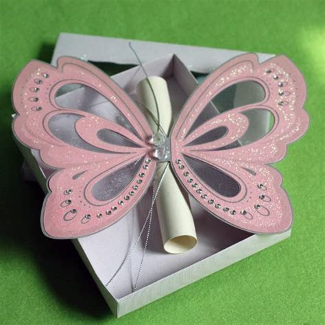 Creative Handmade Pink Elegant Butterfly Wedding