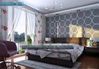 Basit tavana pencereler yatak odası
