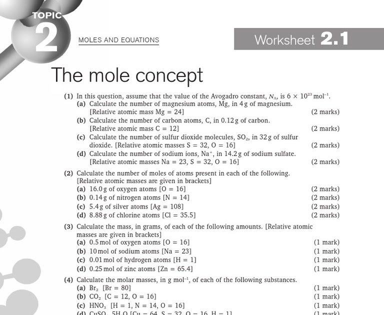 27 111 Describing Chemical Reactions Worksheet Answers ...