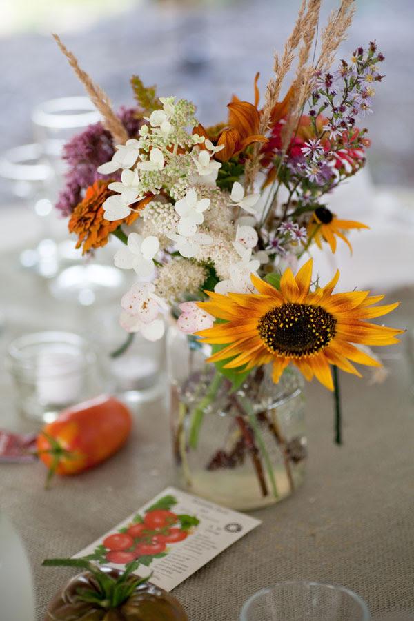 Fall Wedding Table Centerpieces