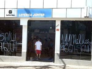 Fachada da lotérica em Santa Bárbara d'Oeste onde foi feita a aposta vencedora da mega-sena  (Foto: Aldo Morelli Junior / Arquivo pessoal)