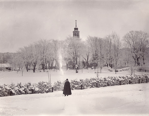 Winter, Solna Church, Uppland, Sweden